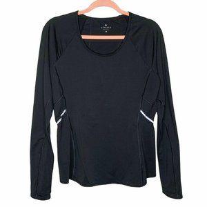 Athleta Luster Reflective Black Long Sleeve Top